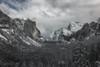 Postcard (wandering indian) Tags: yosemite yosemitenationalpark yosemitevalley nps landscape nature snow snowstorm nikon kedardatta sunrise fog clouds california water