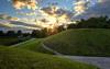 Grassy Hills Sunset (henriksundholm.com) Tags: landscape sunset clouds sky sun path hills trees skogskyrkogården woodlandcemetery cemetery graveyard enskede hdr stockholm sverige sweden