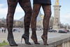 Invalides Paris in Fetish stockings and heels (Ysée de France) Tags: invalides paris france tights stockings pantyhose nylon heels high sexy girls duo boots