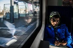 Travelmate (Melissa Maples) Tags: münchen munich deutschland germany europe nikon d3300 ニコン 尼康 nikkor afs 18200mm f3556g 18200mmf3556g vr train blue seat platform station boy winter