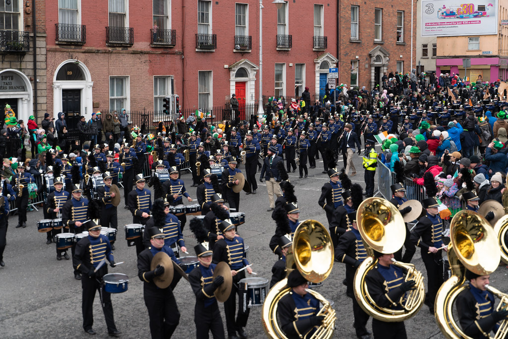 Legacy High School Lightning Marching Band [St. Patricks Day Parade 2018 In Dublin]-137531