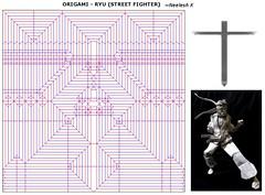 ORIGAMI - RYU (STREET FIGHTER) CP (Neelesh K) Tags: origami street fighter ryu cp box pleating neelesh k