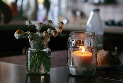 Almost spring time (Shahrazad_84) Tags: daisy flowers home cosy candle