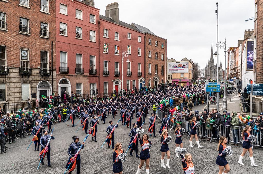 DUBLIN SAINT PATRICKS PARADE 2018 [THE MARCHING ILLINI]-137390