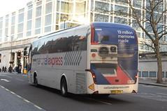 NX 7105 @ Victoria coach station (ianjpoole) Tags: go northern national express volvo b9r caetano levante bf63zpv 7105 working route 425 london victoria coach station newcastleupontyne