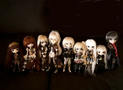 Steampunk family (Lunalila1) Tags: doll groove taeyang pullip dal isul byul steampunk family group eclipse