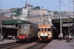 1980-07-04, FS, Genova P.P. (Fototak) Tags: treno railway eisenbahn train genova italy fs e626 ale840 626223 840039