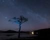 Unintentional light... (pauls1502) Tags: longexposure lochlomond milarrochy trossachs trees nightsky night landscape scottishhighlands scotland water sky stars milkyway highlands nikon luss balmaha lightpainting milarrochybay