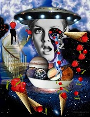 Strawberries and Cherries Travelers - By SilviAne Moon. (Silviane Moon) Tags: arte cherries digitalart digitalcollage digitalpainting estrelas icecream photomanipulation planetas planets planetspace space stars surreal surrealart surrealism surrealismo surrealistic universe universo sorvetes surrealfantasy art silvianemoon silvianemoonart strawberries