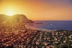 Mondello sunset (ilsiciliano_) Tags: mondello sunset tramonti snsets sunsets sea mare landscape paesaggio landscapes italia palermo canon sun sole city città igers flickr mountain