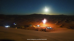 Spent the new year in the highest dune in Morocco is the best thing you can start the year. (Karim Achalhi) Tags: dune traveling night landscape stars newyear campingtent fiesta celebration moon dreamland dream canon higher ergchebbi morocco sahara merzouga lifestyle freedom freezing coldness emotion memories travelmemories traveldeeper sensation