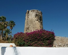 The tower against a background of blue sky (~J♡onbicykle ☞) Tags: spain hiszpania costadelsol tower baszta blue sky niebo