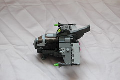 Bird eye view Galactic Force Hunter (sander_koenen92) Tags: lego space moc ship fighter