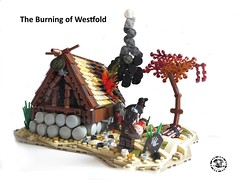 The Burning of Westfold (_Uruk_) Tags: lordofthering lego lotr uruk saruman rohan westfold burning blood moc middleearth middle earth tolkien