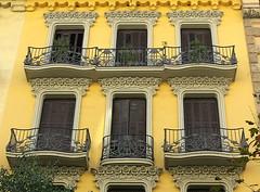 Façade en fleurs, Barcelona