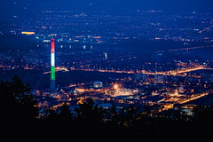357/365 (halagabor) Tags: city citylife cityscape citylights evening nikon jupiter jupiter11a 135mm d610 night nightscape nightlife budapest hungary tower chimney architect architecture lights tricolor hungarian freedom blue bluehour red white green óbuda capital landscape vintagelens manualfocus view panorama revolution 1848 nation national colorful colors 365 365project