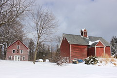 Red is the color (pegase1972) Tags: quebec québec qc easterntownships estrie barn grange winter hiver neige snow cold rural
