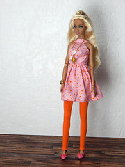 """""""Bright"""" up your life - the pink polka dot dress (Levitation_inc.) Tags: ooak handmade doll dolls clothes dress outfit levitation levitationfashion etsy poppy parker bright nuface fashion royalty integrity toys barbie barbiestyle colorful colors mod sweet confection"""