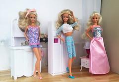 Garden Party Barbie, Winter Fun Barbie, Happy Birthday Barbie 1995 (alenamorimo) Tags: barbie barbiedoll barbiecollector superstar dolls