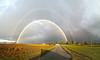 SAN DANIELE DEL FRIULI. VEDO DOPPIO. (FRANCO600D) Tags: arcobaleno rainbow sandanieledelfriuli campagna temporale paesaggio landscape fotocomposizione samsung note4 fvg friuli friuliveneziagiulia italia italie italien italy bellitalia franco600d