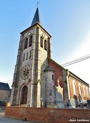 Estrées - Église Saint-Sarre (JeanLemieux91) Tags: iglesia église church clocher hiver winter invierno febrero février february estrées nordpasdecalais nord france europe