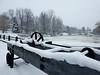 Atop the dam at Watson's Mill in Manotick (Ottawa), Ontario (Ullysses) Tags: manotick ottawa ontario canada winter hiver watsonsmill mill moulin dam barrage rideauriver rivièrerideau mosskentdickinson josephmerrillcurrier
