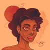 Sunset Smile (choppre) Tags: nubreedlab africa watercolor sun sunset smile portrait portraiture afropunk nubian emilekumfa digital art illustration illustrator photoshop