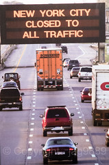 """9/11/2001 World Trade Center Terrorist Attack: NYC Closed to All Traffic"" Photograph, New York Transit Museum, Brooklyn, New York City (jag9889) Tags: 2016 20160612 911 9112001 anniversary auto automobile brooklyn car collapse downtownbrooklyn groundzero indoor kingscounty lowermanhattan mta manhattan metropolitantransportationauthority museum ny nyc nytm newyork newyorkcity newyorktransitmuseum photograph road sign terroristattack traffic transit transportation truck usa unitedstates unitedstatesofamerica vehicle wtc worldtradecenter jag9889"