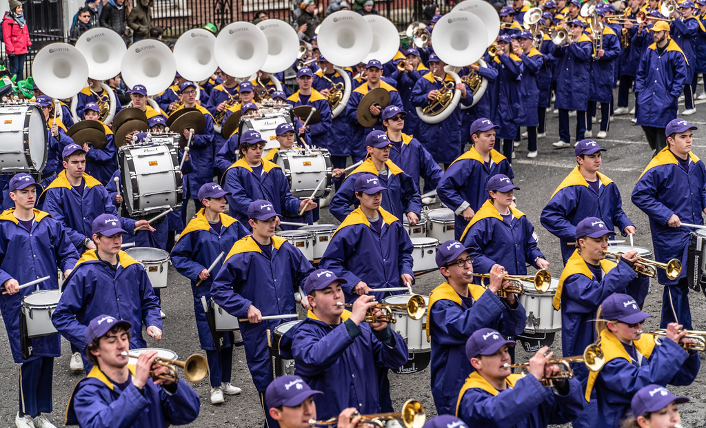 Jackson High School - Purple Army Marching Band [Dublin Patricks Day Parade 2018]-137636