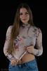 Transparency (piotr_szymanek) Tags: kornelia korneliaw portrait studio woman milf young skinny jeans longhair face hand navel eyesoncamera 1k 20f 50f frock 5k 10k 20k 100f