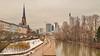 29 - Francfort Mars 2018, la neige fond (paspog) Tags: francfort frankfurt main mars march märz 2018 rivière fleuve fluss river tours towers