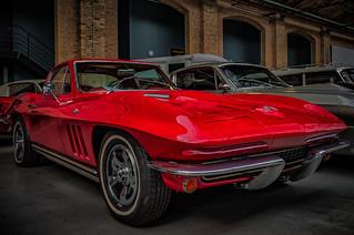 a wonderful classic red CORVETTE