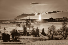 Zonsopkomst bij Siberisch koufront - Schin op Geul/NL (Meteo Hellevoetsluis) Tags: 0227 2018 aboutpixels holland limburg mnd02 nikond7200 nl nederland netherlands nikon provincielimburg schinopgeul winterseason winterseizoen collecties februari geografie geography landscape landschap meteo meteorologie meteorology nature natuur neerslag precipitation sneeuw snow sunsets weather weer zon zonsopkomst