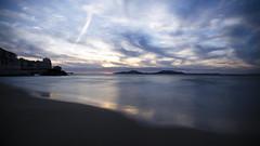 Cold Sea (Lolo_) Tags: longexposure poselongue marseille plage beach méditerranée frioul catalans panorama sand sable island mer sea corniche sunset coucher soleil