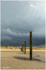 Contrasting weather (PhilBe) Tags: lombardsijde nieuwpoort weather thunderstorm beach cloud northsea noordzee