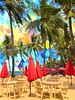 An Angular Afternoon (ToGa Wanderings) Tags: beautiful tropics tropical tourism leisure chairs tables sand trees palm afternoon zone alternate reality alternative background angular abstract relax richis sunny fun vacation holiday drenched sun hallucination surreal edit triangles umbrellas red long resort island asia vietnam phuquoc beach tree