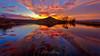 Embalse de la Pena (www.jorgelazaro.es) Tags: agua embalse calma color nubes amanecer lago paisaje sol laguna dorado landscape cielo lapena torregrossa catalunya españa es