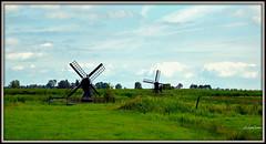 Dutch Landscape (JaapCom) Tags: jaapcom landscape landed landschaft mill mills mühlen mühle clouds natural nature dutchnetherlands holland hollanda moulin molino molens molinos