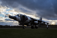 Hawker Siddeley Harrier GR3 - 6 (NickJ 1972) Tags: raf cosford photoshoot photocall photo shoot night nightshoot threshold aero aviation 2018 hawker siddeley harrier gr3 arctic camo xz991 07 jump jet vtol