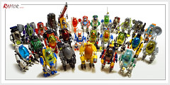 Say cheese! (Brixnspace) Tags: lego moc raptor series groupshot invasion robot walker biped