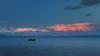 San Pablo Bay Sunset (fksr) Tags: sanpablobay sanfranciscobay boats clouds sky water horizon evening dusk sunset landscape marincounty california