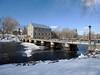 Watson's Mill and dam in Manotick (Ottawa), Ontario (Ullysses) Tags: watsonsmill mosskentdickinson josephmerrillcurrier dam barrage rideauriver rivièrerideau manotick ottawa ontario canada winter hiver mill moulin
