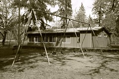 Swing set in Greenwaters Park in Oakridge, Oregon (Rick Obst) Tags: swings playground greenwaterspark