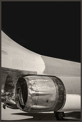 Pima A&S IR #2 2018; Fighter (hamsiksa) Tags: flight flying aviation aircraft airplanes aeroplanes jets military fighters airforce museums airmuseums aviationmuseums historic arizona tucson pimaairandspacemuseum blackwhite infrared digitalinfrared infraredphotography abstarct formalist