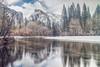 Snowflow (East Wind) Tags: halfdome mercedriver winter snow river yosemite