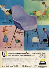 1961 Ad for Alladinware Avisun Form-Fit Polypropylene Chairs (Guy Clinch) Tags: midcenturymodern advertisement
