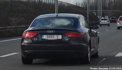 5555-S (XBXG) Tags: 5555s belgium belgique belgië vlaanderen zemst audi a5 tdi license plate kenteken plaque immatriculation immat autoroute snelweg