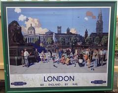 London - See England by Rail (andreboeni) Tags: railway railroad poster advert advertisement london british railways trafalgar square
