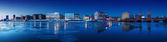 Mediaspree - Berlin Winter Panorama (FH | Photography) Tags: berlin deutschland europa panorama oberbaumbrücke spree winter eis gefroren kalt skyline blauestunde fernsehturm mediaspree gebäude architektur city wahrzeichen ufer kreuzberg friedrichshain eisschollen
