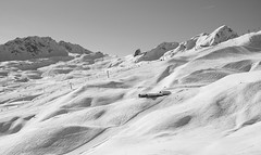 Arosa, Switzerland (romanboed) Tags: leica m 240 europe switzerland arosa alps mountains peaks winter ski snow landscape alpine countryside monochrome black white bw summilux 50